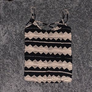Black Forever 21 chevron tank top